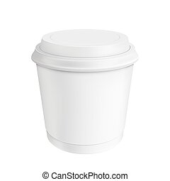 café, cup., isolé, illustration, fond, blanc