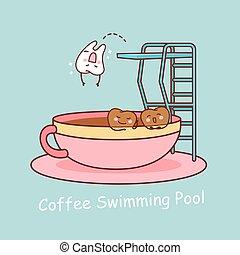 café, dent