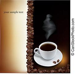 café, desenho, fundo
