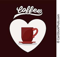café, desenho, gostosa