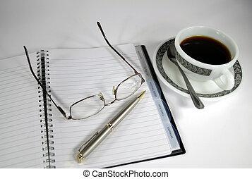 café, diário