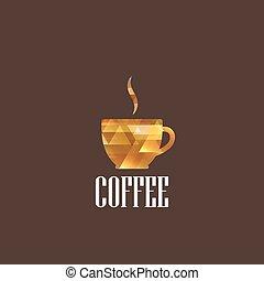 café, diamant, illustration, tasse
