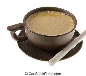 café, e, cigarro