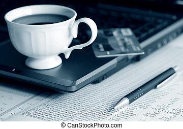 café, e, contabilidade