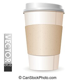 café, espaço, vidro grande, papelão, logo., vazio