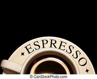 café, espresso, taza
