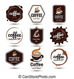 café, etiqueta