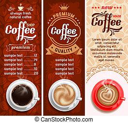 café, etiquetas
