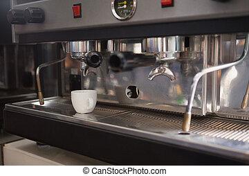 café, fabricante espresso, taza