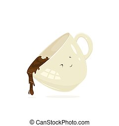 café, feliz, copo