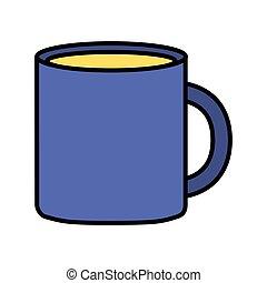 café, fond blanc, tasse