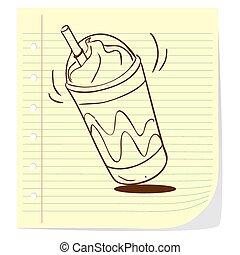 café, frappe, garabato