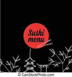 café, gabarit, vecteur, illustration., menu, restaurant, design.