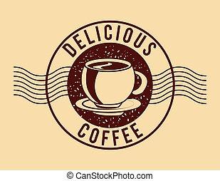 café, gostosa, desenho