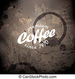café, grunge, retro, fundo