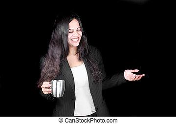 café, heureux, temps