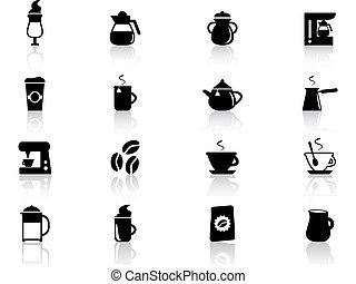 café, icônes