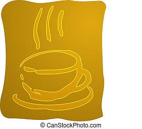 café, illustration, tasse