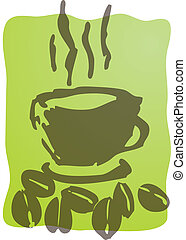 café, illustration, tasse