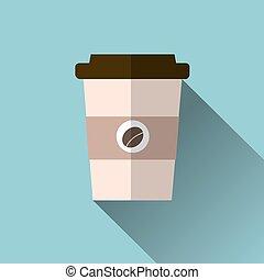café, illustration., tasse, isolé, arrière-plan., vecteur, icône