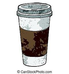 café, isolé, retro