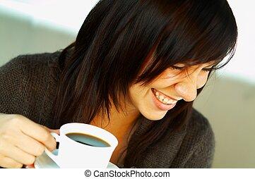 café, juste, tasse