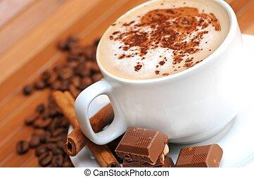 café, lait, tasse