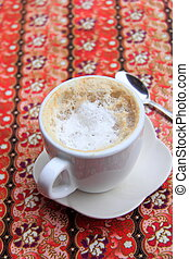 café, latte, caliente
