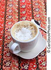 café, latte, chaud