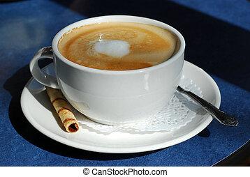 café, latte