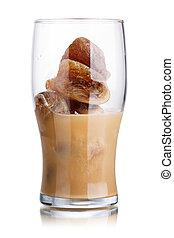 café, leche, cóctel