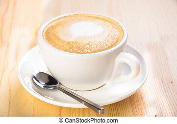 café, leche, taza