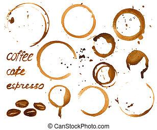 café, lista, vector, diseño, menú, o