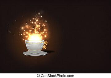 café, magia