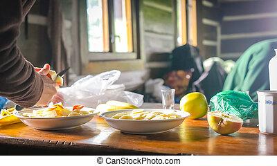 café manhã fazendo, manhã