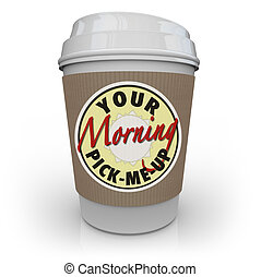 café, manhã, seu, escolh-mim-acima, copo