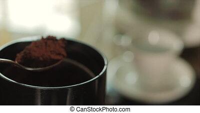 café matin, cuillère, cadrans, naturel, grinder., terrestre,...
