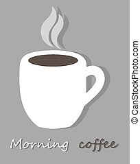 café, matin, tasse