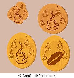 café, moeda, ouro