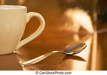café, moitié, tasse