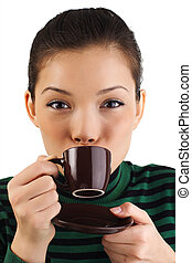 café, mulher
