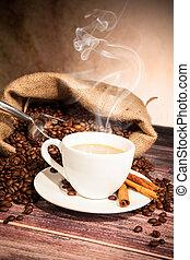 café, naturaleza muerta