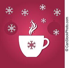 café, noël, tasse