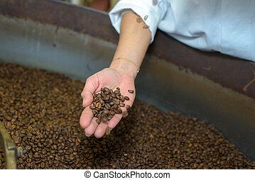 café, noir, rôti