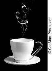 café, ou, tasse, thé