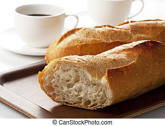 café, pan francés