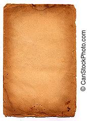 café, papier, arrière-plan brun, vieux, sombre