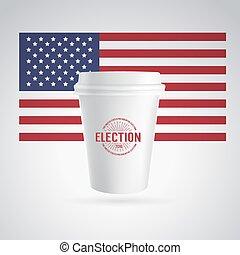 café, papier, icon., tasse