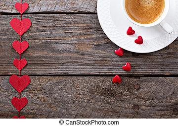 café, para, día de valentines