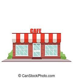 café, parte dianteira loja